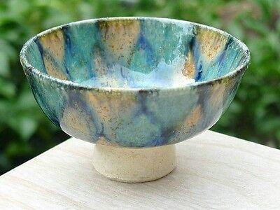 Japanese Sake cup Guinomi Ochoko Kiyomizu yaki ware Kyo three glaze from japan