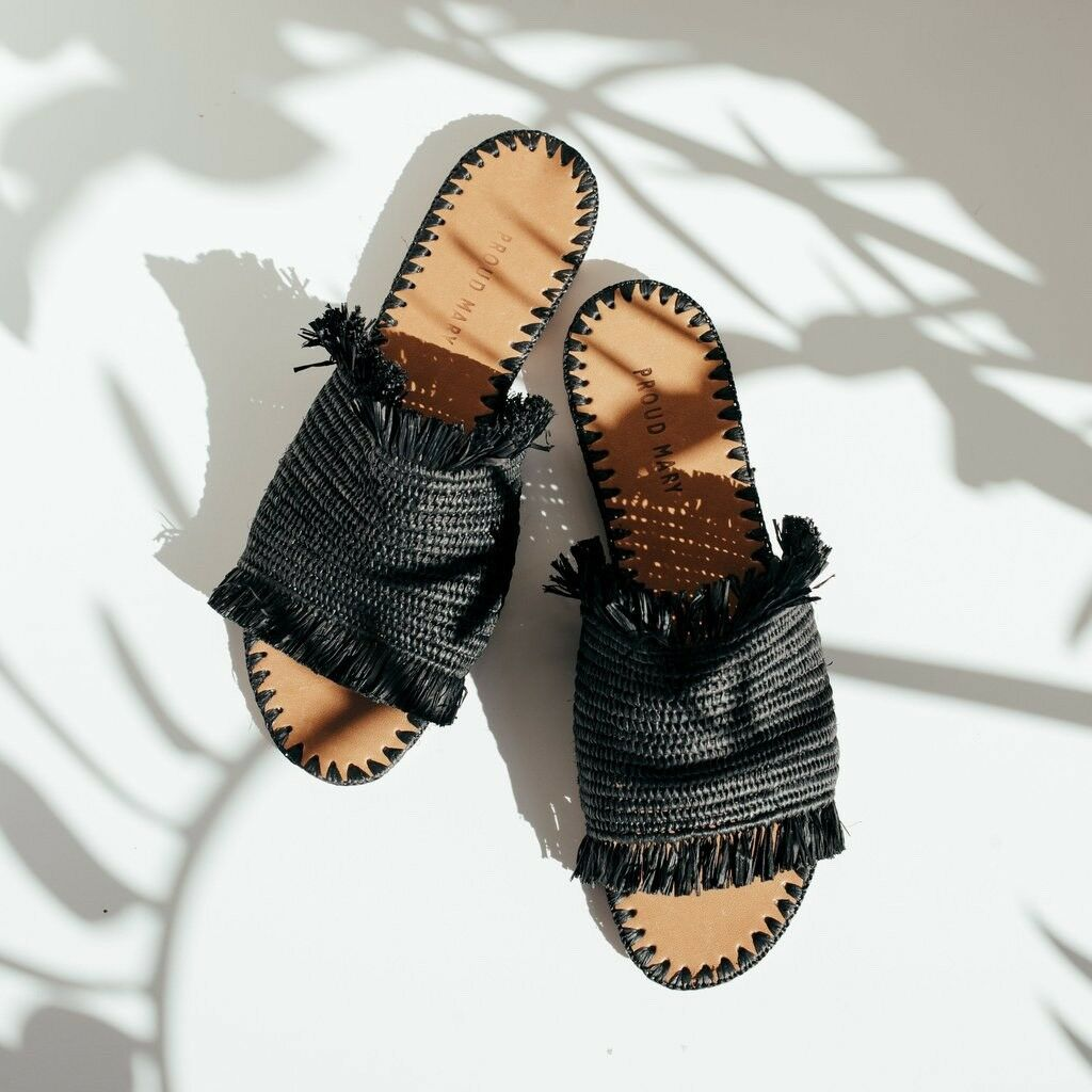 Proud Mary Fringe Slide Sandals