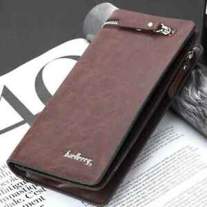 New-Gifts-Checkbook-Mens-Leather-Purse-Bifold-Wallet-Coin-Bag-Card-Holder