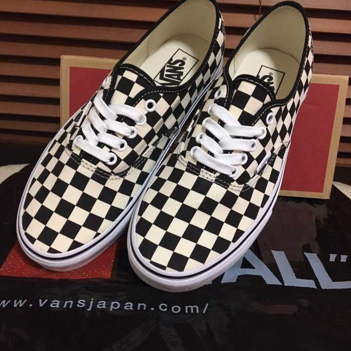 Store limited vans authentic checker checker checker nero   bianca 26.5 from japan (5718 c9be2c