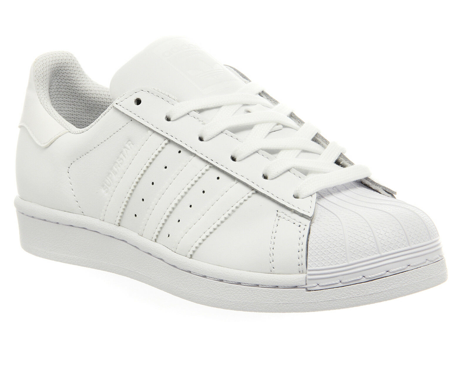 Mens Adidas Superstar 1 White Mono Foundation Trainers shoes