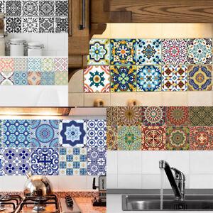 20pcs Waterproof Self-adhesive Tiles Sticker Floor Wall Decals #2 10x10cm