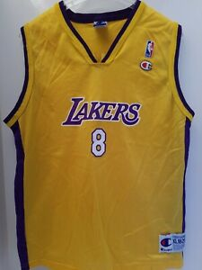 Details about Kobe Bryant #8 LOS ANGELES LA LAKERS AUTHENTIC CHAMPION NBA jersey YOUTH XL RARE