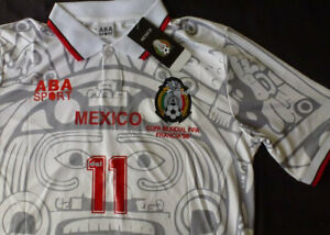 794a43034ae NEW ABA SPORT Mexico Away Jersey 11 BLANCO Medium RETRO France 1998 ...