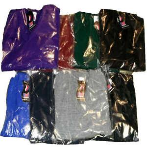 Knitted-V-Neck-School-Uniform-Jumpers-pullover-8-Cols