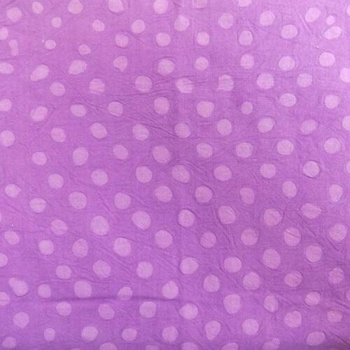 Coton Batik Cire Imprimé Pois Spots Dots couture tissu-Violet Rose Bleu