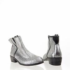 e99803959 item 4 Sam Edelman James Women s Shoes Silver Leather Ankle Boots Size 6 M