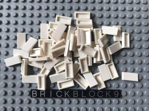 1x2 Tiles White Groove 3069b Finishing Plates Smooth Flat Bulk Lot 100x LEGO