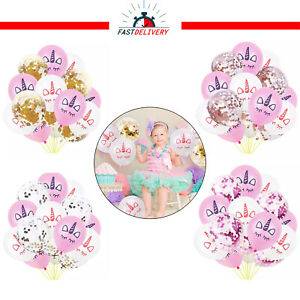 15x-Licorne-Confettis-Latex-Ballons-Fete-D-039-Anniversaire-Decoration-Enfants-Theme-UK