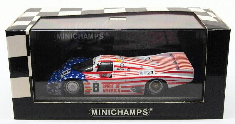 MINICHAMPS 1 43 scale model voiture 430 866508-PORSCHE 956 L 1986 Stars & Stripes