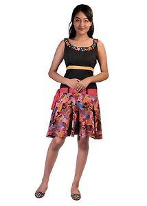 tattopani-Mujer-Verano-Sin-Mangas-Vestido-con-coloridos-Estampado-De-Flores