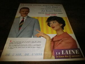 LAINE-DE-L-039-AIR-DE-L-039-AISE-Publicite-de-presse-Press-advert-1958