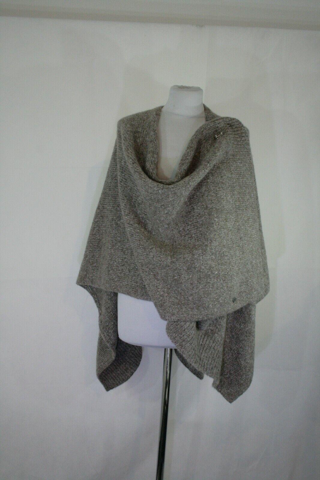 Toller grau braun melierter Poncho von Knit Ted, Ted, Ted, 47 47 Bitte messen | Üppiges Design  | Verwendet in der Haltbarkeit  39d17e
