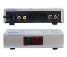 Modulatore RF Audio Video TV Antenna UHF 21-69 Scart RCA Convertitore Modulator