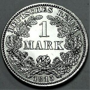 Deutsches-Kaiserreich-1-Mark-Silber-1915-J-Reichsadler-st-unz
