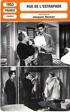 FICHE CINEMA : RUE DE L'ESTRAPADE - Gélin,Jourdan,Vernon,Servais,Becker 1953