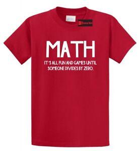 fce45c5dcd Funny Math T Shirt Division College Math Teacher Humor Tee Shirt | eBay