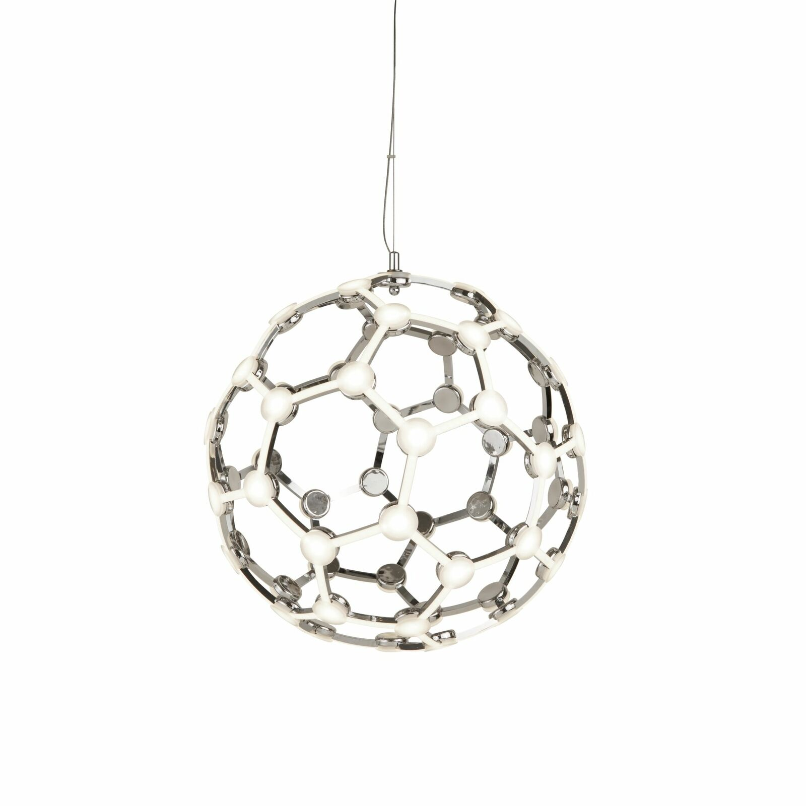 Searchlight Magic LED Globe Frame Pendant Chrome
