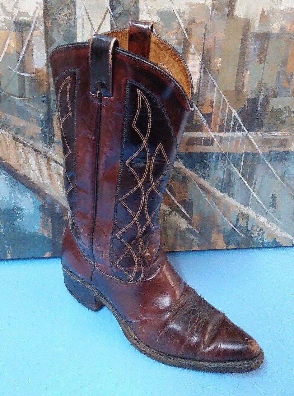 Men's Texas 11134 Cowboy Boots 9.5D Brown