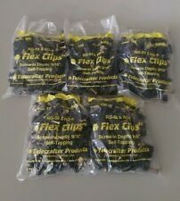 (LOT 500) 500 SINGLE BLACK Flex Clips for RG6 RG59 Coax Cable - 5 Bags of 100