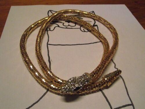 1 Collier Serpent fantaisie or ou en Ceinture Fermoir Magnétique de 86cm