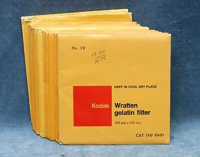 KODAK WRATTEN GEL 2X2 FILTERS YOUR CHOICE $11.99 SHIPPED USA SEALED NOS