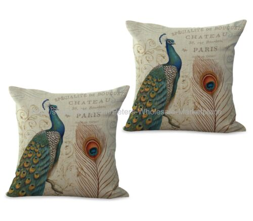 Set of 2 wholesale pillows  peacock cushion cover US SELLER