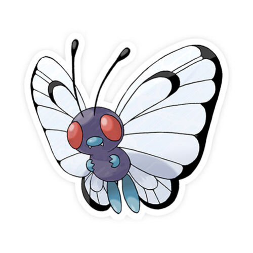 Butterfree Pokemon Go Pokemon Waterproof Self Adhesive Vinyl Sticker