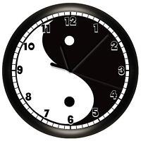 Ying Yang Wall Clock Decorative Gift Wall Decor Art Black White Chinese Symbol