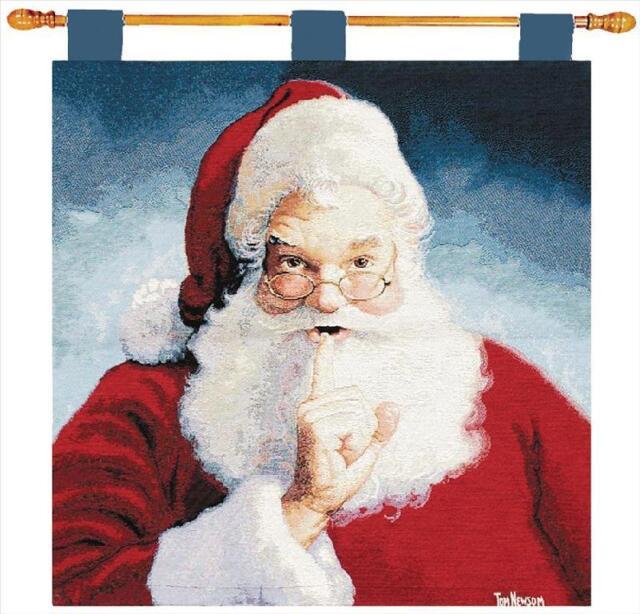 Santa Claus Wall Hanging Holiday Christmas Wall Art 26x26 Tapestry ...