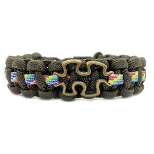 Autism-Awareness-Puzzle-Design-Paracord-Bracelet-Olive