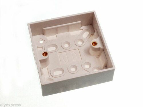 NEW QTY OF 10 SINGLE SURFACE MOUNT ELECTRIC BACK BOX 1 GANG 35MM