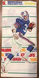 VTG NFL Football Player Teams Flat Twin Sheet Fabric Bibb Co