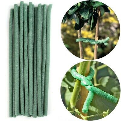 "30 x 10/"" LONG GARDEN PLANT TIES Soft Foam Twist Flower Bush Shrub Tree Support"