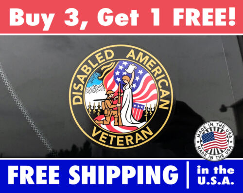 DAV Decal army navy air force marines Disabled American Veterans Bumper Sticker