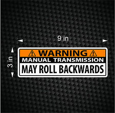 Warning Bumper Sticker Stick Shift Manual Transmission Car Vinyl JDM Decal ROLL