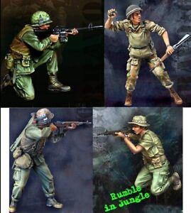1-35-Resin-Vietnam-War-US-Soldiers-in-Fight-4-Set-unpainted-unassembled-BL941