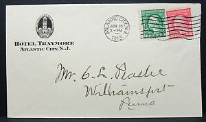 Hotel-Traymore-US-Adv-Cover-Atlantic-City-New-Jersey-1918-USA-Letter-H-6338