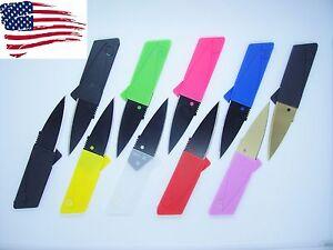 10-Multi-Color-Credit-Card-Knives-folding-wallet-pocket-survival-micro-knife-EDC