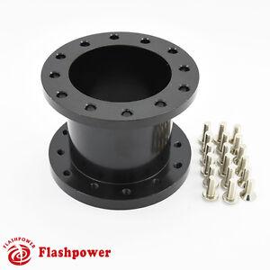 2-5-034-Steering-Wheel-Spacer-Black-Aluminum-for-MOMO-NARDI-ISOTTA-SPARCO-OMP
