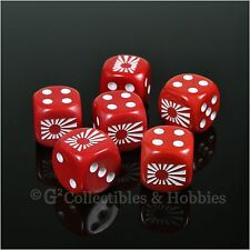 NEW 6 Imperial Japanese Navy Rising Sun Flag Dice Set RPG War Game D6 WWII Japan