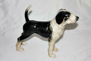 Vintage Standing Cast Iron Bank-Door Stop of a Kerry Beagle LOOK!
