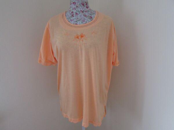 (c1146) Onorevoli Hoang Collection Top Taglia Xl 22 Arancione
