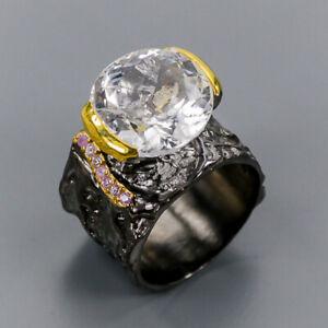 Quartz Ring Silver 925 Sterling Handmade Jewelry Size 9 /R134327