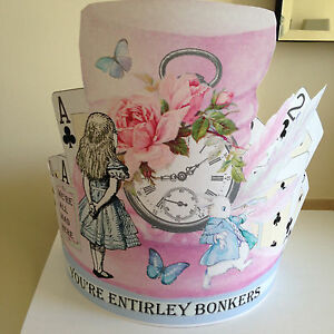 Party-Hat-Paper-Hat-Easter-Hat-Birthday-Alice-In-Wonderland-Pink-Hat-head-band
