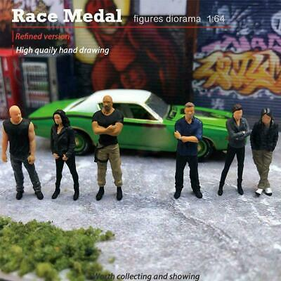 1:64 Scale Models Doll The Movie Version Fast Speed Car Race Model Driver J8H3