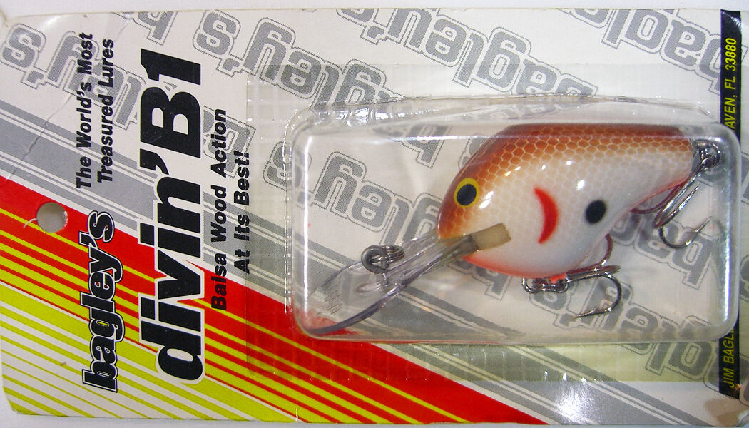 Bagley DB1-CW Fishing Lure  Diving B 1  Vintage Bait  Collectible