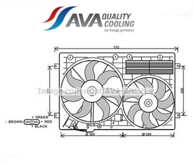 VW7529-G Ventola, Raffreddamento motore (AVA)