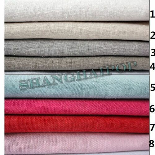 Organic Linen Fabric 100/% Pure Natural Flax Eco DIY for Ladies Clothes 23 Colors
