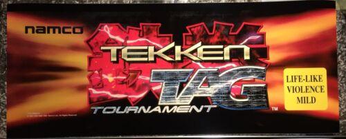 Tekken Tag Arcade Marquee 26 x 10.5